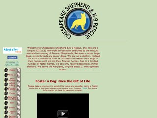 Chesapeake Shepherd and K-9 Rescue