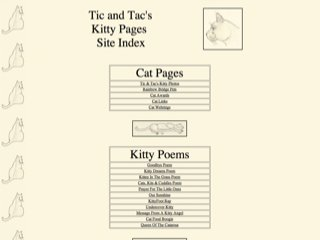 Tic and Tac's Kitty Pages