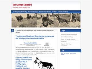 Just German Shepherd - All about the German Shepherd Dog