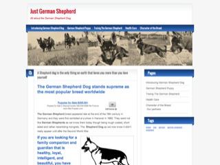 Just German Shepherd – All about the German Shepherd Dog