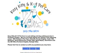 Kozy Kitty & K-9 Pet Care