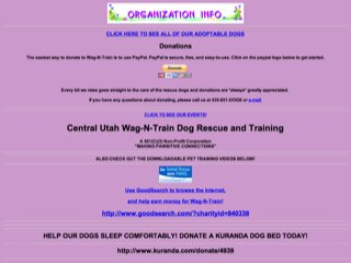 Central Utah Wag-N-Train Dog Rescue and Training