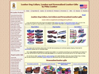 Custom Dog Collars-Cat Collars-Personalized Leather gifts-made in USA