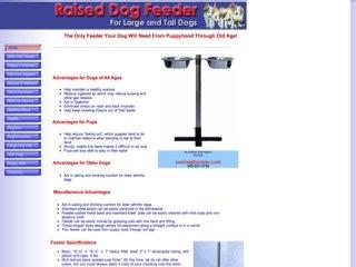 Raised Dog Feeder